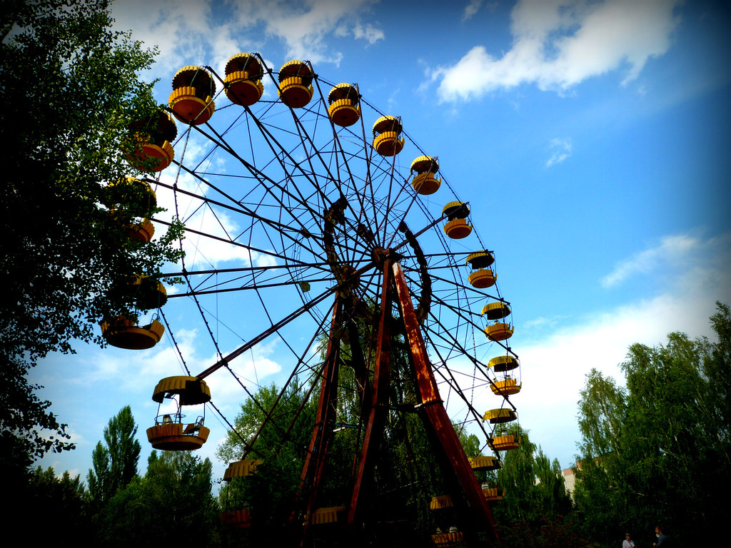 Iconic Prypiat ferris wheel