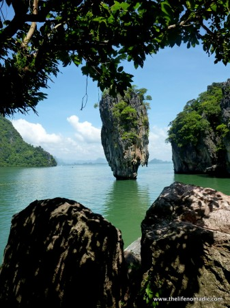 The James Bond islands in Phang Nga Bay, Thailand.