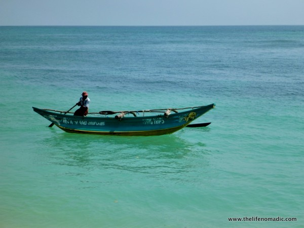 A fisherman in Unawatuna, Sri Lanka.