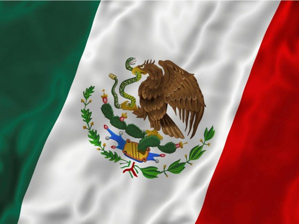 The beautiful flag of Mexico
